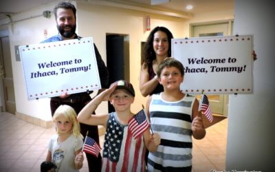 INHS Welcomes Veteran Walking Across Country